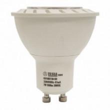Tesla LED žárovka GU10, 7W, 230V, 560lm, 30 000 hod., 3000K, teplá bílá, 38° stmívatelná